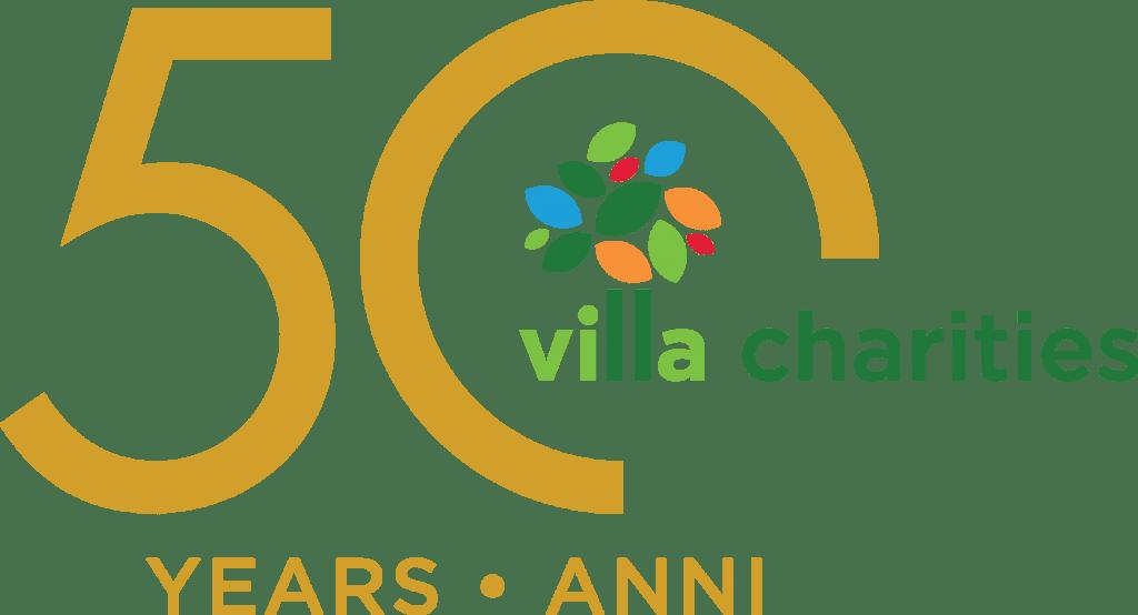 Villa Charities 50th Anniversary logo.