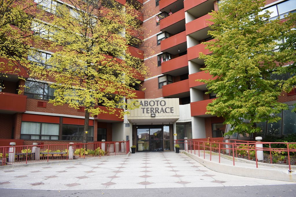 Exterior of the Caboto Terrace apartment building.