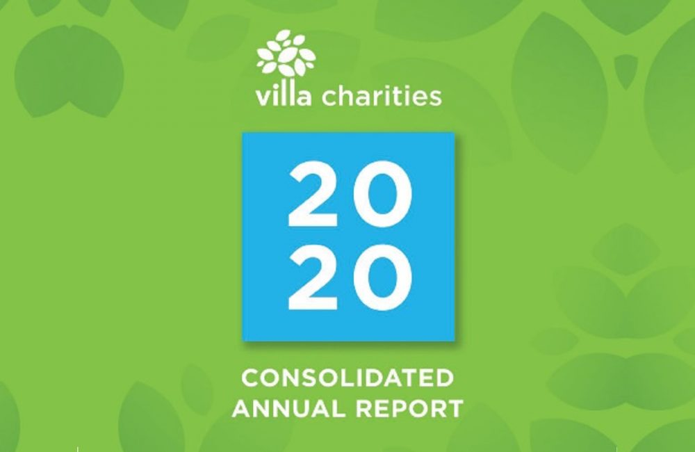 2020 Consolidated Villa Charities Annual Report front cover.