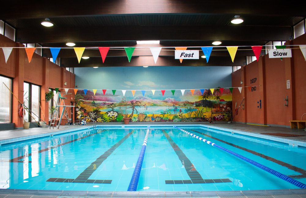 The swimming pool at the Columbus Centre Athletic Club.