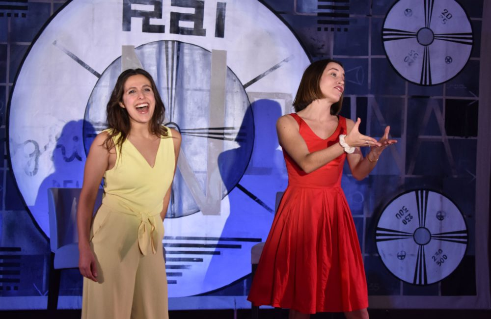 Danya Buonastella and Maddalena Vallecchi Williams perform during a live production of