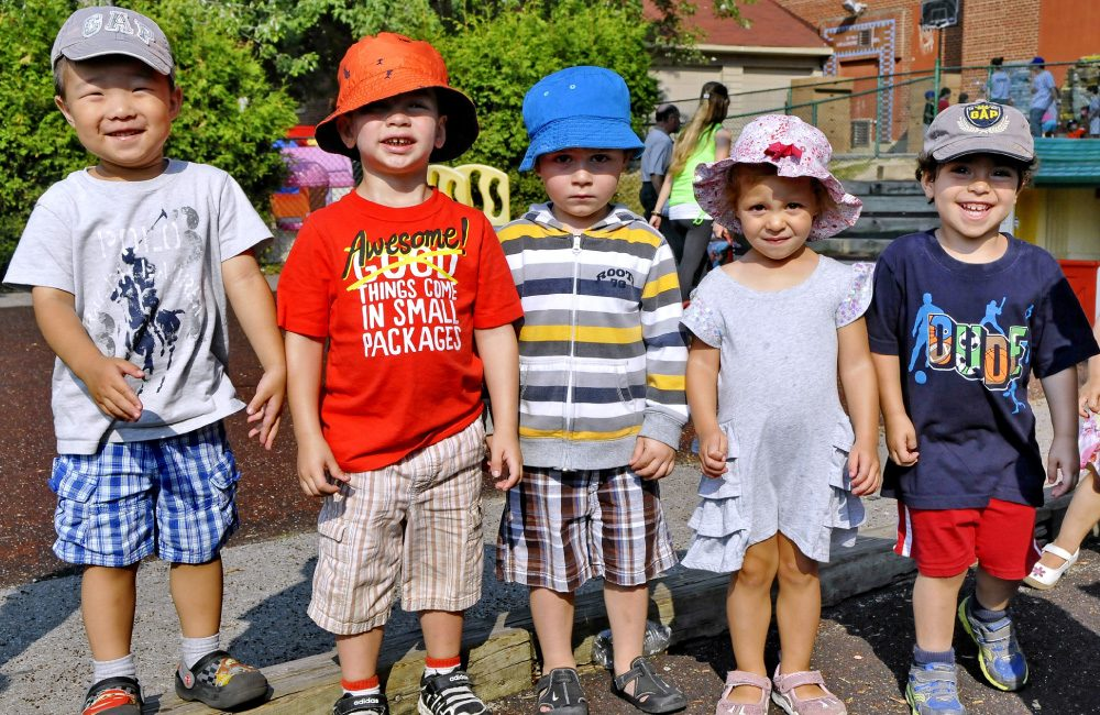 A group of children posing for a photo.